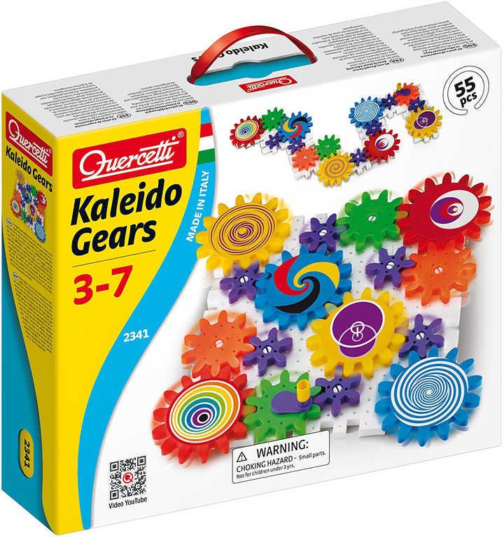 QUERCETTI Georello Kaleido Gears stavebnice převodová 55 dílků v krabici plast