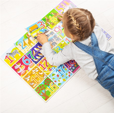 Bigjigs Toys Podlahové puzzle počítání 20 dílků