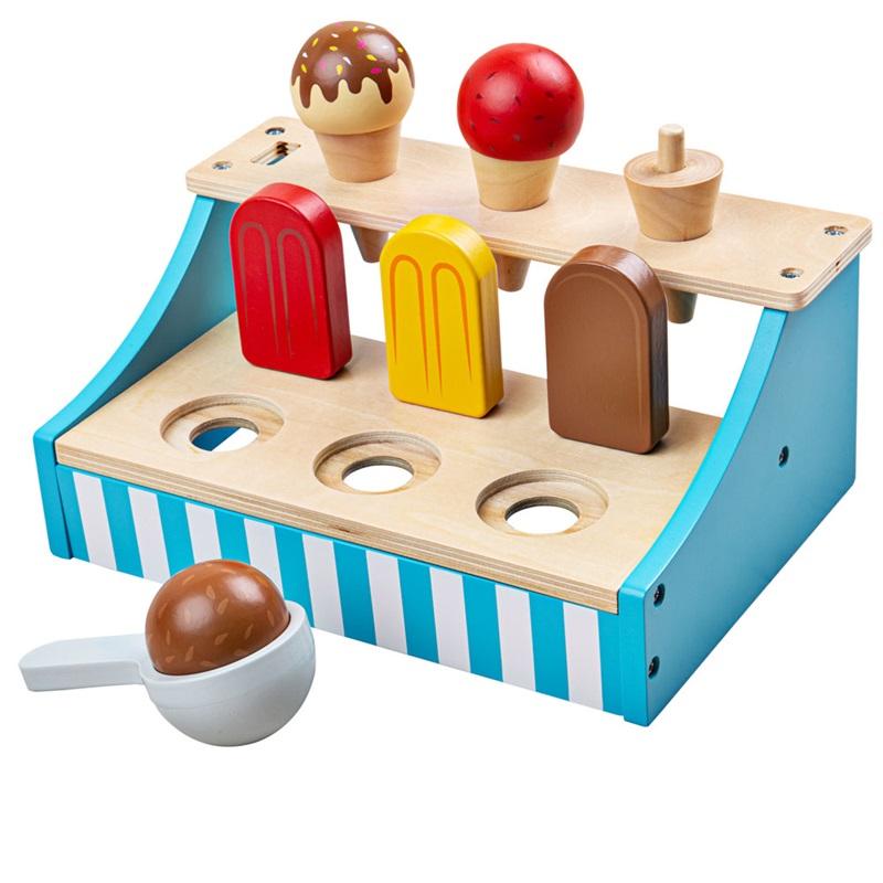 Bigjigs Toys Stojánek se zmrzlinou
