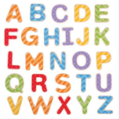 Bigjigs Toys Magnetická barevná abeceda (velká písmena)