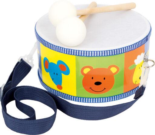 Small Foot Dětské dřevěné hudební nástroje buben zvířata