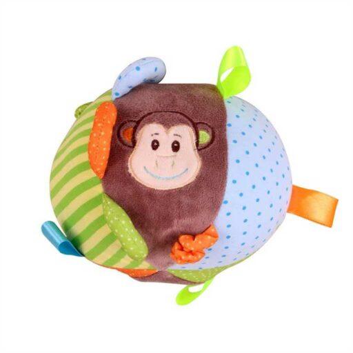 Bigjigs Baby Textilní aktivní koule opička Cheeky