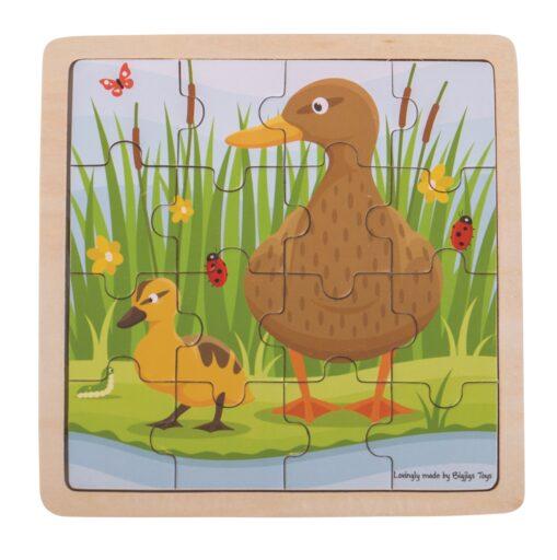 Bigjigs Toys puzzle - Kačenka s kačátkem