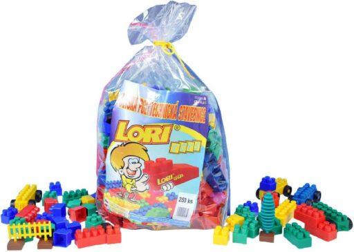 LORI 019 Stavebnice plastová 250 dílků v plastovém pytli