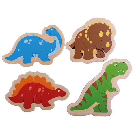 Bigjigs Toys Dřevěné puzzle dinosauři