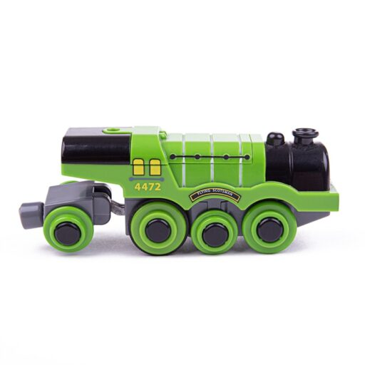 Bigjigs Rail Elektrická lokomotiva Flying Scotsman zelená