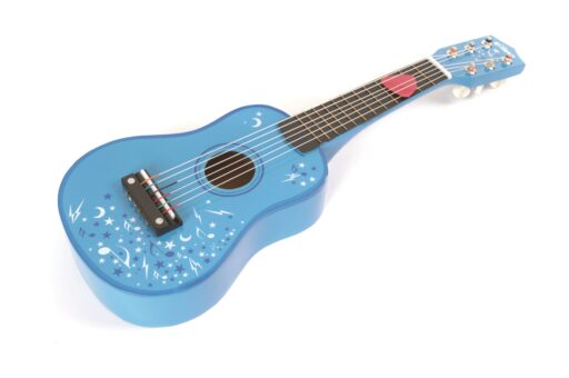 Tidlo Dřevěná kytara Star modrá