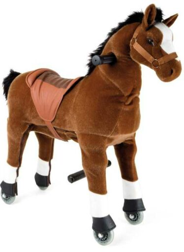 Small Foot Pohyblivý dětský jezdecký kůň hříbě na kolečkách