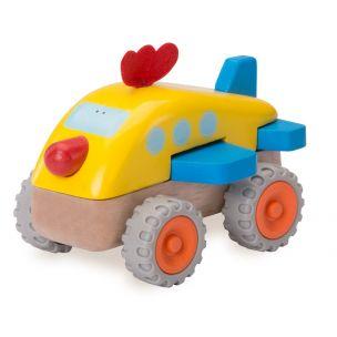 Wonderworld Dřevěné Mini letadlo kuře