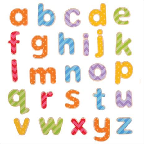Bigjigs Toys Magnetická barevná abeceda (malá písmena)