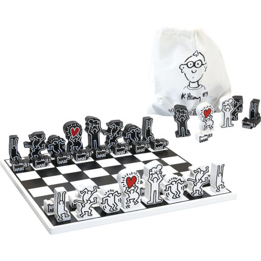 Vilac Moderní dřevěné šachy Keith Haring