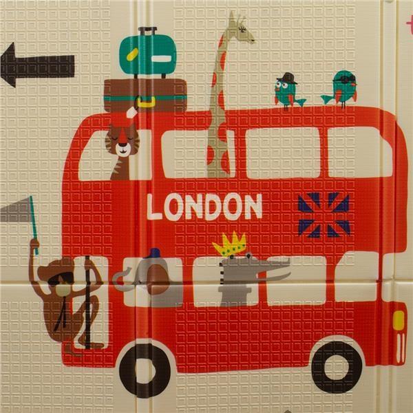 Multifunkční skládací hrací podložka PlayTo Londýn - dle obrázku