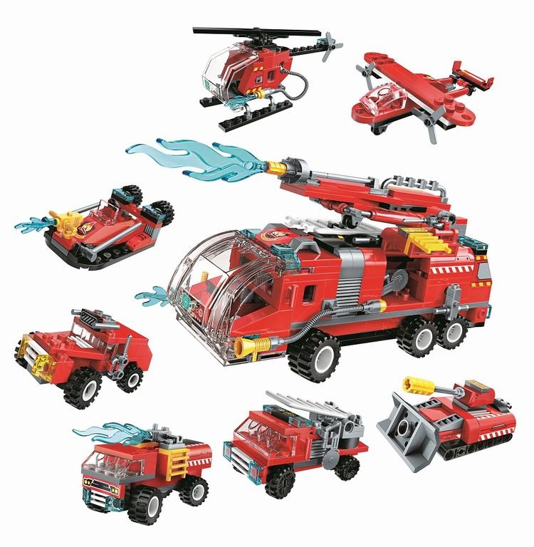 Qman Water Cannon Fire Truck 1805 sada 8v1