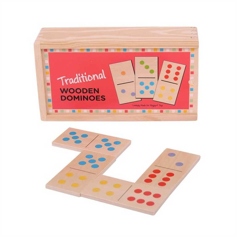 Bigjigs Toys Dřevěné domino klasické