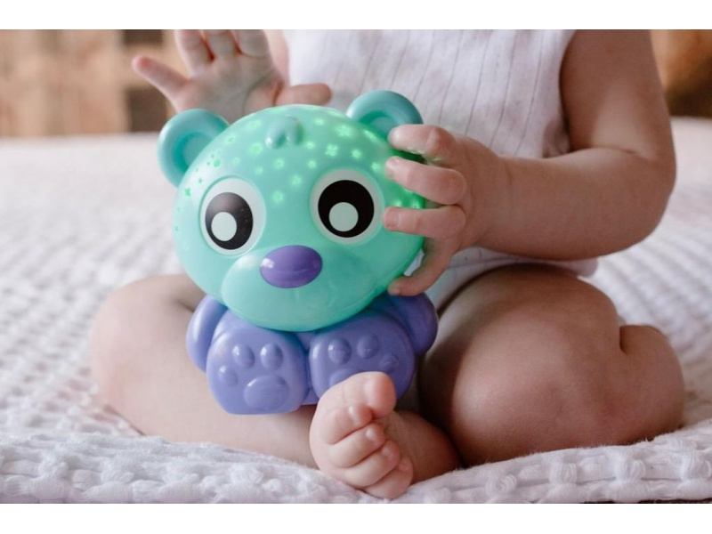Playgro - Usínací lampička medvídek s projektorem - zelený