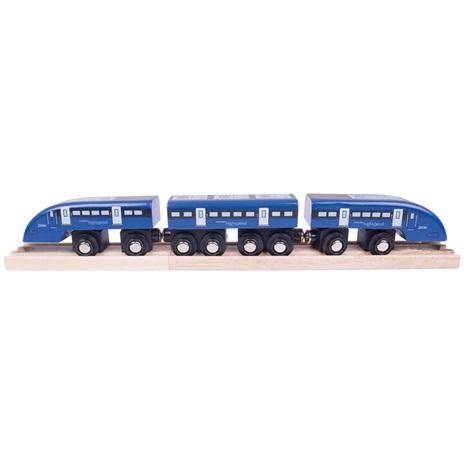 Bigjigs Rail Rychlík High Speed 1 modrý