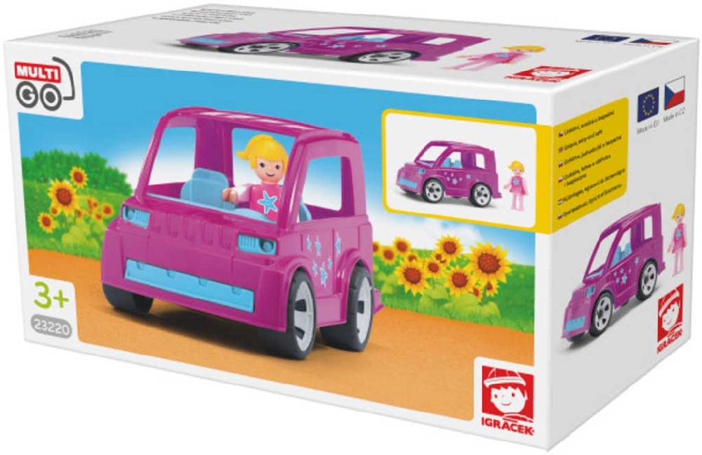 EFKO IGRÁČEK MultiGO Auto Pinky Star set s figurkou plast STAVEBNICE
