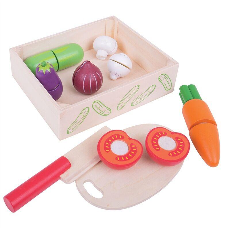 Bigjigs Toys Krájecí zeleniny v krabičce - poškozený obal