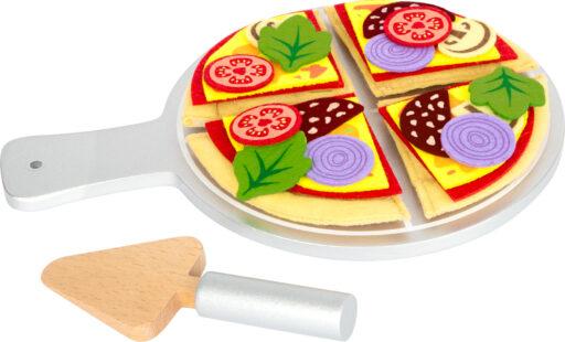 Small Foot Látková pizza se servírovacím talířem
