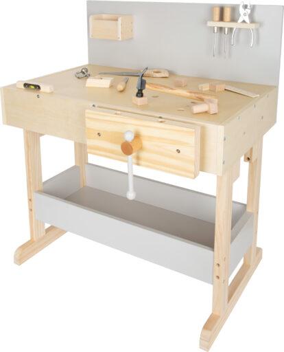 Small Foot Dětský pracovní stůl šedý s nářadím