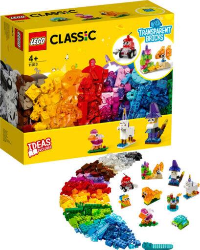 LEGO CLASSIC Průhledné kreativní kostky 11013 STAVEBNICE