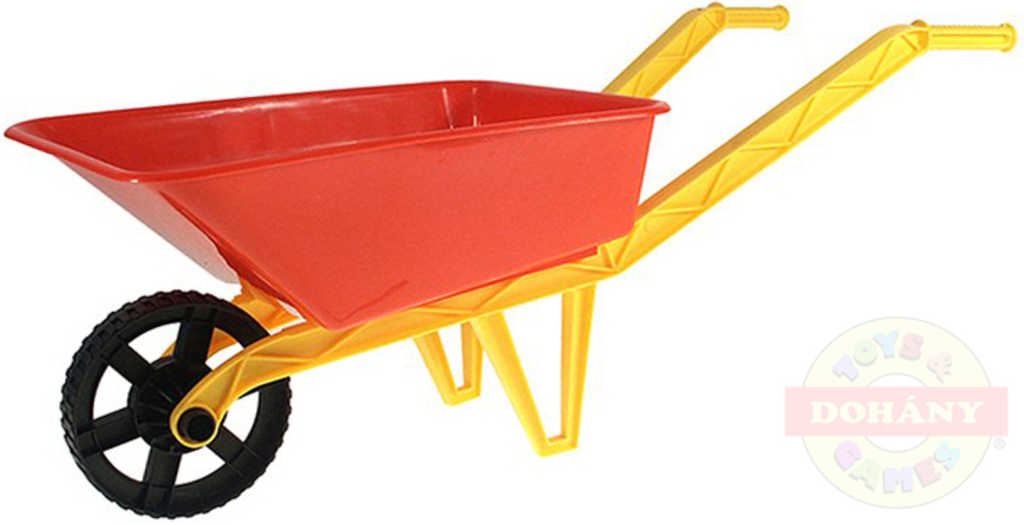 MAD Dětské kolečko (kolečka) na písek červené 72x29x25cm plast