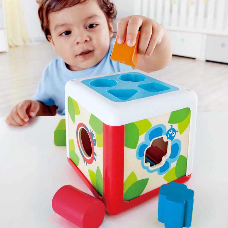 HAPE DŘEVO Baby vkládačka krychle Broučci set 5 dílků *DŘEVĚNÉ HRAČKY*