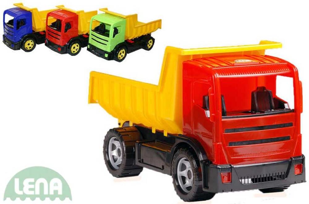 LENA Auto nákladní sklápěč Mercedes 2-osý 62cm plast 3 barvy