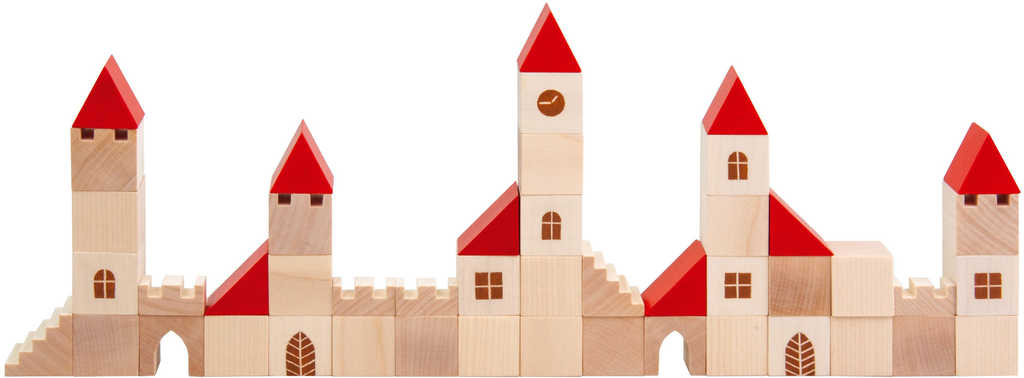 DETOA DŘEVO Stavebnice město kostky 100 dílků *DŘEVĚNÉ HRAČKY*