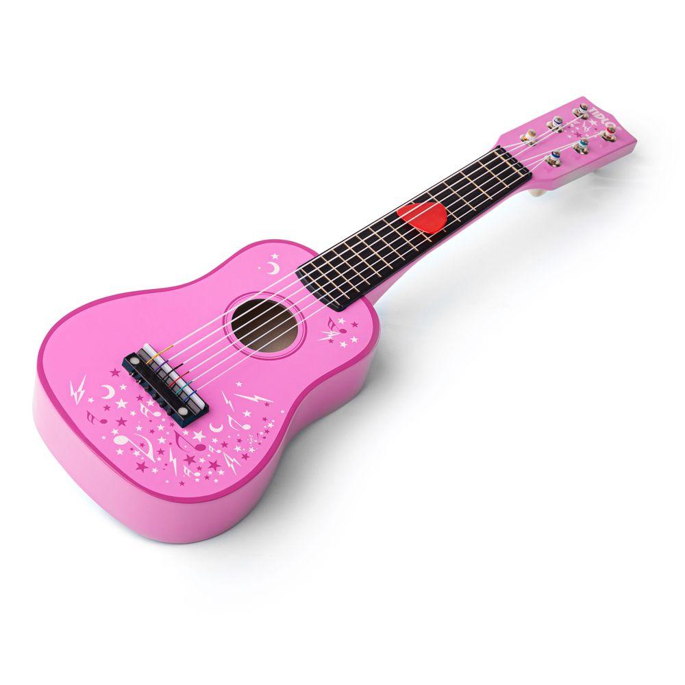 Tidlo Dřevěná kytara Star růžová