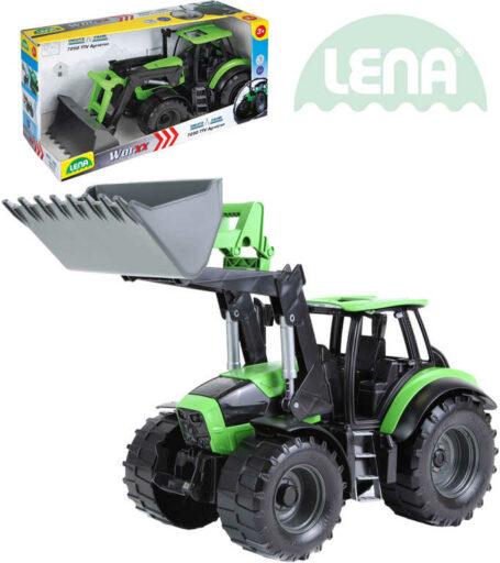 LENA Traktor funkční se lžící 45cm Worxx 1:15 DeutzFahr Agrotron 7250 plast