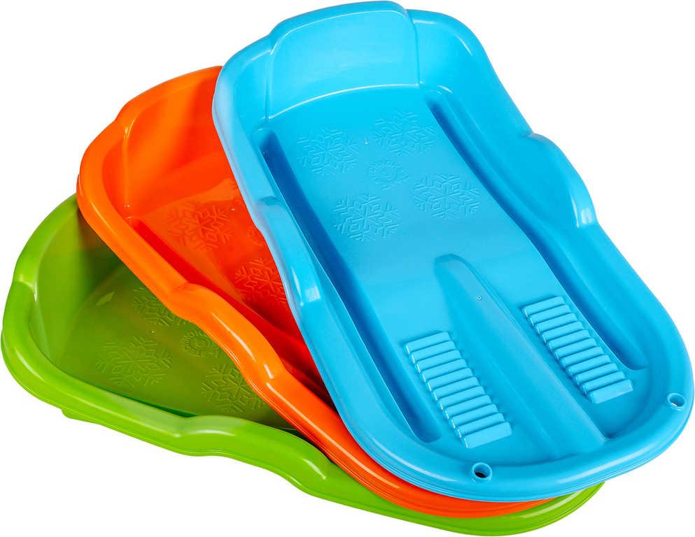 Boby dětské malé plastové 63x36cm na sníh 3 barvy