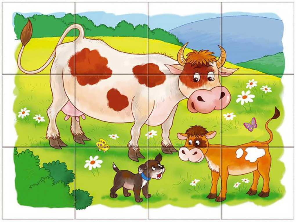 DINO DŘEVO Kubus set 12ks Na farmě obrázkové kostky