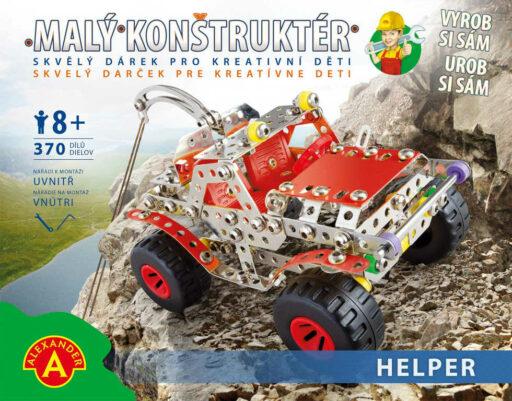 ALEXANDER Malý konstruktér Helper Vyprošťovač konstrukční STAVEBNICE 370 dílků kov