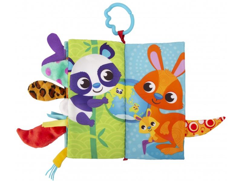 Playgro - Textilní knížka se zvířecími ocásky