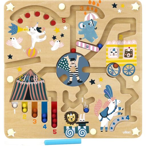 Vilac Magnetický labyrint cirkus Michelle Carlslund