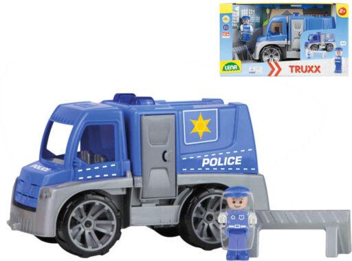LENA Truxx Baby auto funkční policie 29cm set s figurkou plast v krabici