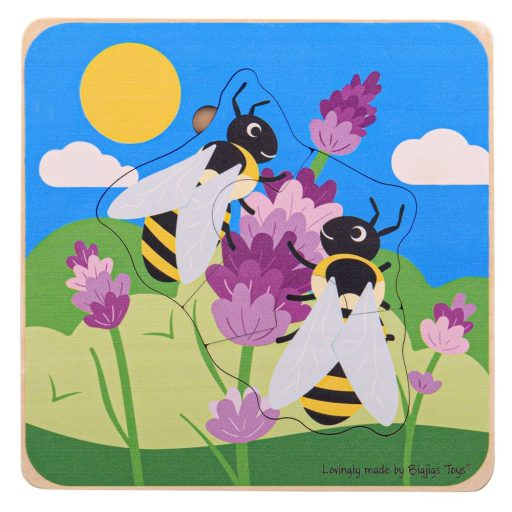 Bigjigs Toys Vkládací puzzle životní cykly včely