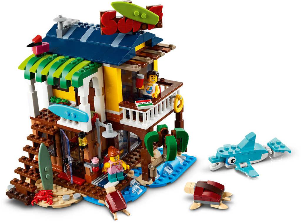 LEGO CREATOR Surfařský dům na pláži 3v1 31118 STAVEBNICE