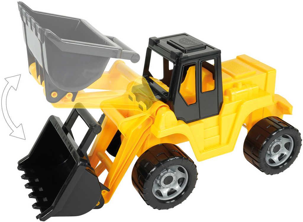LENA Giga Trucks auto nakladač 62cm žluto-černý bagr na písek plast