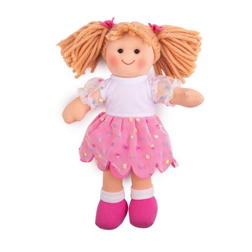 Bigjigs Toys Látková panenka Darcie 28 cm