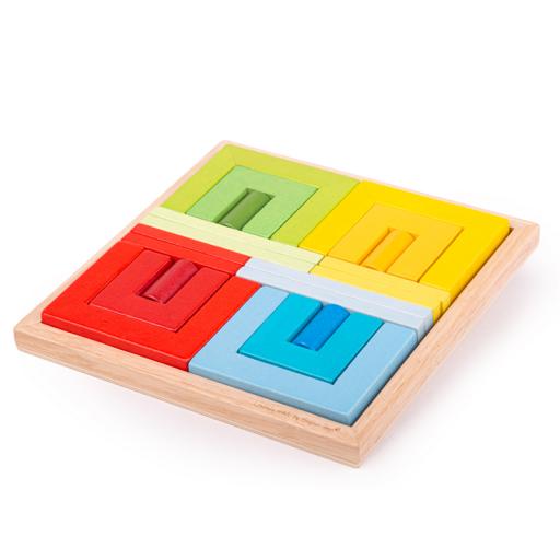 Bigjigs Toys Dřevěné skládací tvary