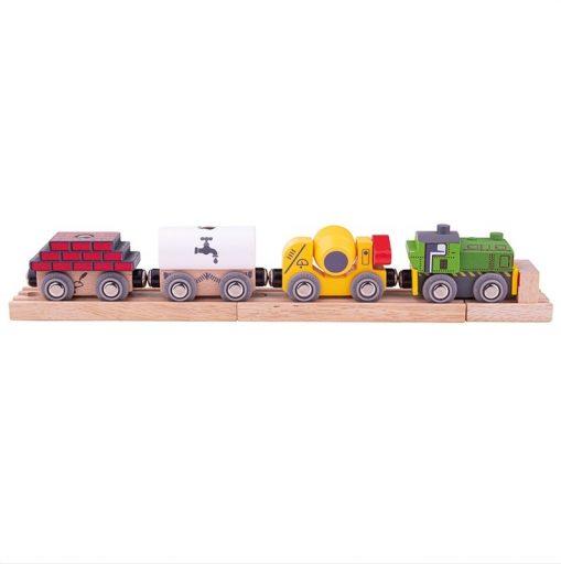 Bigjigs Rail Dřevěný stavební vlak