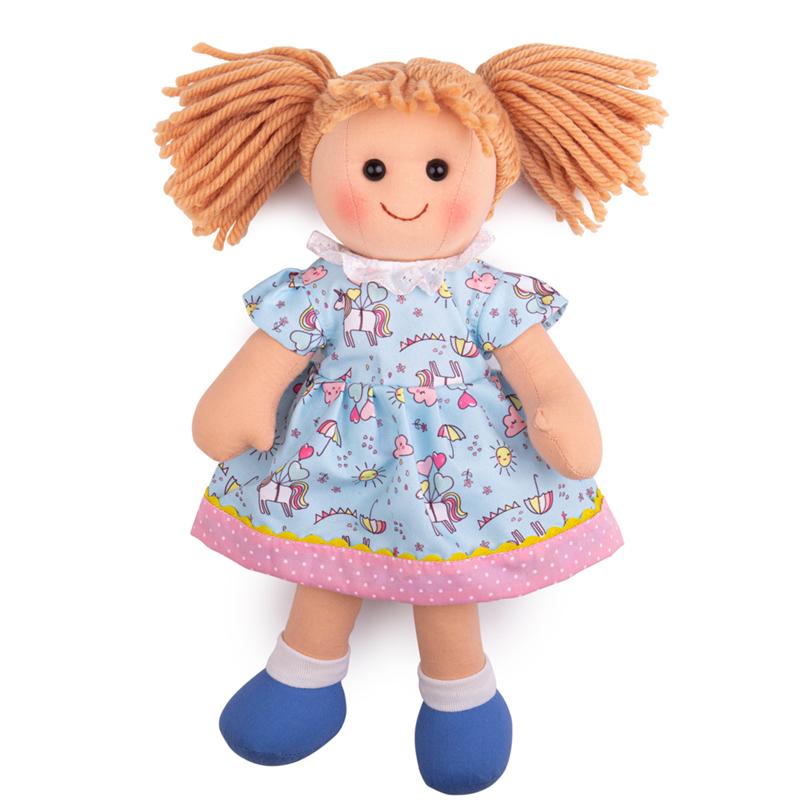 Bigjigs Toys Látková panenka Olivia 34 cm
