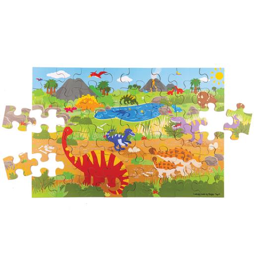 Bigjigs Toys Podlahové puzzle Dinosauři 48 dílků