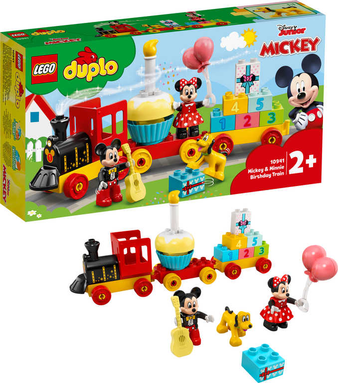 LEGO DUPLO Narozeninový vláček Mickeyho a Minnie 10941 STAVEBNICE