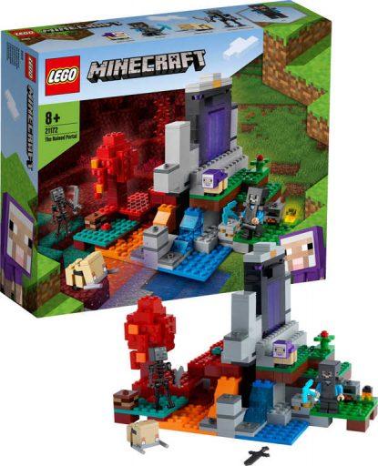 LEGO MINECRAFT Zničený portál 21172 STAVEBNICE