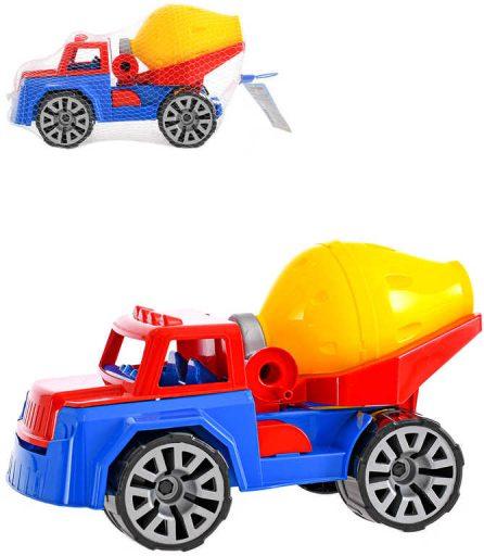 Auto barevné stavební 30cm domíchávač betonu funkční volný chod na písek