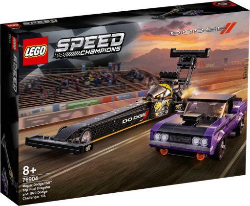 LEGO SPEED CHAMPIONS Mopar Dodge Dragster + Challenger 76904 STAVEBNICE