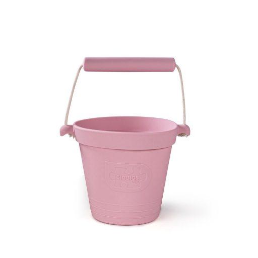 Bigjigs Toys Plážový kyblíček světle růžový
